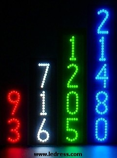 Lighted address numbers -- LEDress vertical style