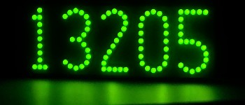 Very green LED lighted house numbers -- LEDress brand