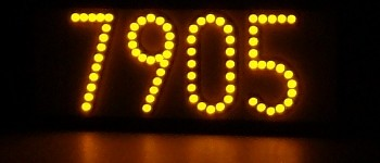 Yellow LED lighted house numbers -- LEDress brand