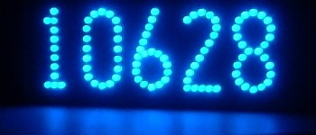 Blue LED lighted house numbers -- LEDress brand
