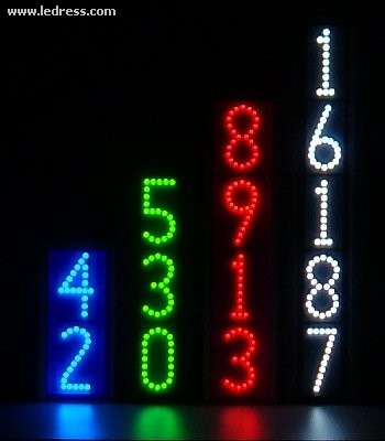 Vertical LED lighted house numbers by LEDress